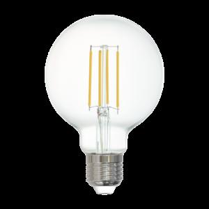 LED fényforrás E27 G80 6W 2700K 806lm átlátszó - Eglo - 12571