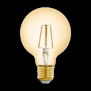 LED fényforrás E27 G80 5,5W 2200K 500lm amber - Eglo - 12572