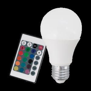 LED normál RGB/fehér E27 A60 9W 3000K 806lm távirányítóval - Eglo - 10107
