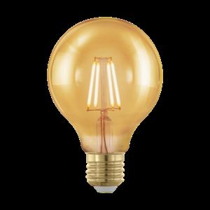 LED 4W/817 E27 gömb 320lm G80 forma dimmelhető 1700K - LED filament - Eglo - 11692