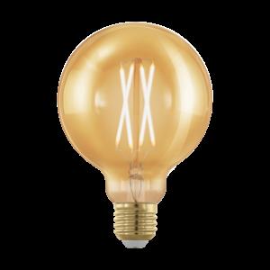 LED 4W/817 E27 gömb 320lm G95 forma dimmelhető 1700K - LED filament - Eglo - 11693
