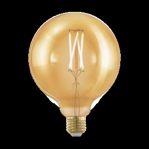 LED 4W/817 E27 gömb 320lm G125 forma dimmelhető 1700K - LED filament - Eglo - 11694