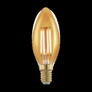 LED 4W/817 E14 320lm vintage C35 gyertya forma dimmelhető 1700K - LED filament - Eglo - 11698