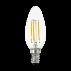 LED Filament E14 C35 4W 2700K 470lm 3xdimm - Eglo - 11753