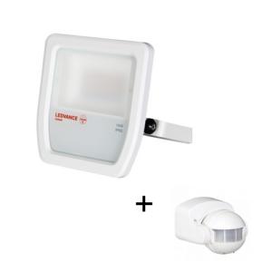 LED reflektor 10W/4000K IP65 fehér Ledvance, Kanlux mozgásérzékelővel - 4058075810952+460