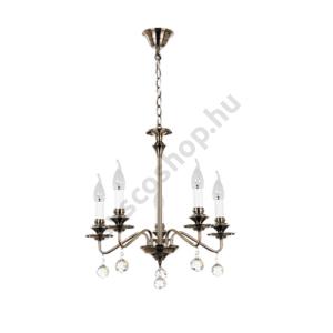 Csillár klasszikus E14 5x max 40W IP20 antik bronz - Beatrice - Rábalux - 7058