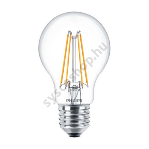 LED 6W-60W/827/E27 Normál forma ND A60 CL Classic - Philips - 929001237202 !