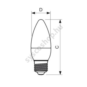 LED 5.5W-40W/827/E27 Gyertya ND B35 CL CorePro - Philips - 929001324702