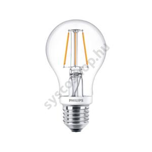 LED 4.5W/827/E27 - Normál Forma D 4,5-40W A60 - FILAMENT Classic D - Philips - 929001227902