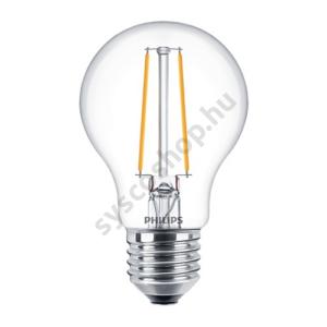 LED 5.5W/827/E27 - Normál Forma D 5,5-40W A60 CL - FILAMENT Classic D - Philips - 929001331002