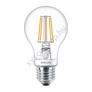 LED 4.5W/827/E27 - Normál Forma 4,5-40W A60 827-822 CL - FILAMENT Classic DT - Philips - 929001268302