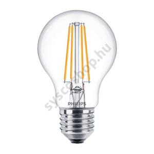 LED 7W/840/E27 - Normál Forma 7-60W A60 CL - FILAMENT Classic ND - Philips - 929001815002