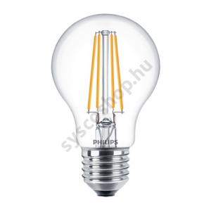 LED 8W/827/E27 - Normál Forma D 8-60W A60 CL - FILAMENT Classic D - Philips - 929001331202