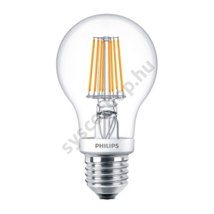 LED 7.5W/827/E27 - Normál Forma 7,5-60W 827-822 A60 - FILAMENT Classic DT - Philips - 929001268502