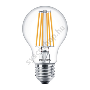 LED 8W/827/E27 - Normál Forma 8-75W A60 CL - FILAMENT Classic ND - Philips - 929001384002