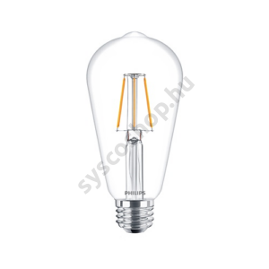LED 4W/827/E27 - Normál Forma 4-40W ST64 827 - FILAMENT Classic ND - Philips - 929001237302
