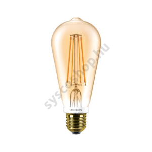 LED 7W/825/E27 - Normál Forma DIM 7-55W ST64 825 - FILAMENT Classic - Philips - 929001228502