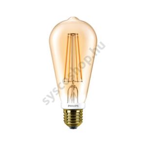 LED 7W/825/E27 - Normál Forma DIM 7-55W ST64 825 - FILAMENT Classic - Philips - 929001228502