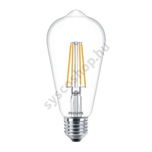 LED 7W/827/E27 - Normál Forma 7-60W ST64 CL - FILAMENT Classic ND - Philips - 929001387602