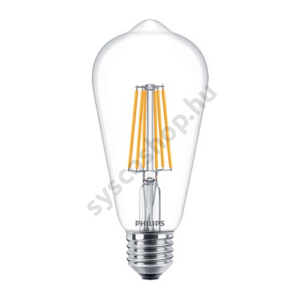 LED 8W/827/E27 - Normál Forma 8-60W ST64 827-822 CL - FILAMENT Classic DT - Philips - 929001334002