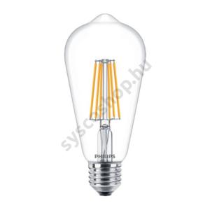 LED 8W/827/E27 - Normál Forma 8-60W ST64 827-822 CL - FILAMENT Classic DT - Philips - 929001334002