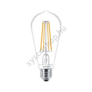 LED 7.5W/827/E27 - Normál Forma D 7,5-60W ST64 CL - FILAMENT Classic D - Philips - 929001228602