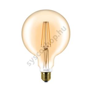 LED 7W/820/E27 - Gömb D 7-50W G120 GOLD - FILAMENT Classic D - Philips - 929001229102