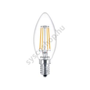 LED 4W/827/E14 - Gyertya 4-40W B35 CL - FILAMENT Classic ND - Philips - 929001258002