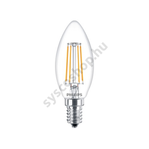 LED 4W/827/E14 - Gyertya 4-40W B35 CL - FILAMENT Classic ND - Philips - 929001258002