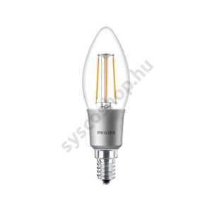 LED 4.5W/827/E14 - Gyertya D 4,5-40W B35 CL - FILAMENT Classic D - Philips - 929001227202