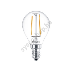 LED 2W/827/E14 - LEDluster 2-25W P45 CL - FILAMENT Classic ND - Philips - 929001238602