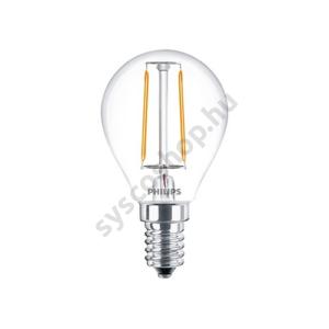 LED 2W/827/E14 - LEDluster 2-25W P45 CL - FILAMENT Classic ND - Philips - 929001238602
