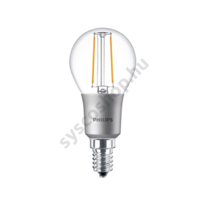LED 3W/827/E14 - LEDluster D 3-25W P45 CL - FILAMENT Classic D - Philips - 929001227102
