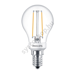 LED 2.7W/827/E14 - LEDluster D 2,7-25W P45 CL - FILAMENT Classic D - Philips - 929001332302