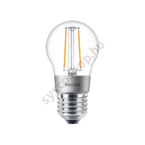 LED 3W/827/E27 - LEDluster D 3-25W P45 CL - FILAMENT Classic D - Philips - 929001227802