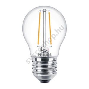 LED 2.7W/827/E27 - LEDluster D 2,7-25W P45 CL - FILAMENT Classic D - Philips - 929001332402