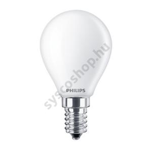 LED 4.3W/827/E14 - LEDluster 4,3-40W P45 FR - FILAMENT Classic ND - Philips - 929001345502