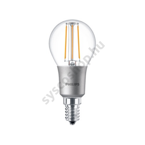 LED 4.5W/827/E14 - LEDluster D 4,5-40W P45 CL - FILAMENT Classic D - Philips - 929001227402