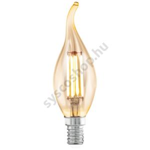LED fényforrás 1X4W E14 2200K láng borostyán LM_LED_E14 - Eglo - 11559