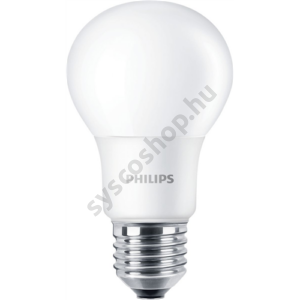 6 db - LED 8W-60W/827/E27 Normál forma ND A60 CorePro - Philips