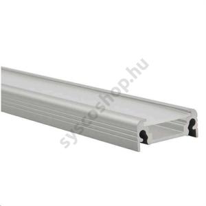 LED alumínium profil (Profilo D) felületre csavarozható, rejtett csavarral - 19163