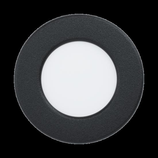 LED-es beépíthető lámpa 2,7W 8,6cm 3000K 300lm IP44 fekete Fueva 5 - Eglo - 99211