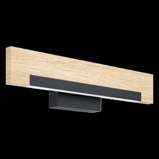 LED-es fali lámpa 8,5W 3000K 1050lm fekete/tölgy Camacho - Eglo - 99294