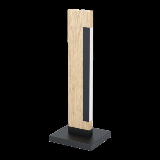 LED-es asztali lámpa 6,5W 3000K 800lm fekete/tölgy Camacho - Eglo - 99295