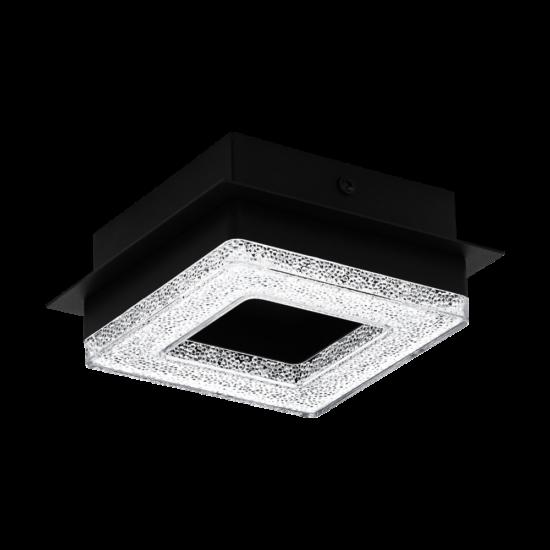 LED-es fali/mennyezeti lámpa 4W 3000K 400lm fekete/kristály Fradelo 1 - Eglo - 99324
