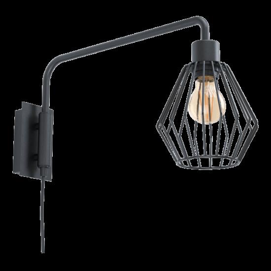 Fali lámpa E27 1x40W fekete Tabillano 1 - Eglo - 99349