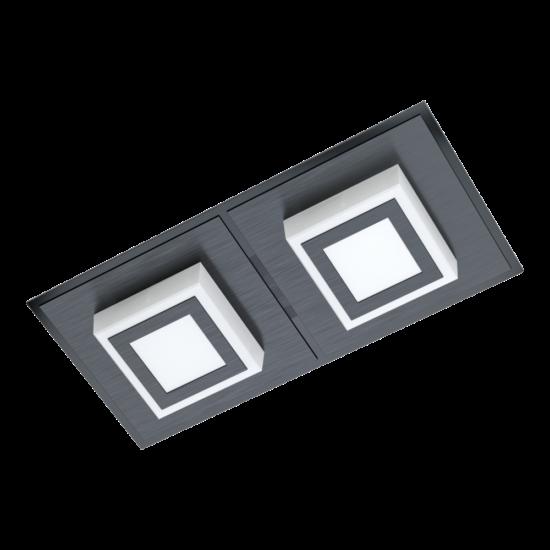 LED-es fali/mennyezeti lámpa 2x3,3W 3000K 680lm fekete Masiano 1 - Eglo - 99362