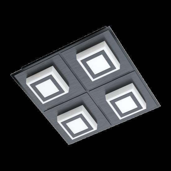 LED-es mennyezeti lámpa 4x3,3W 3000K 1360lm fekete Masiano 1 - Eglo - 99364