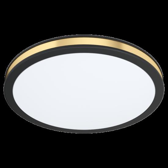 LED-es mennyezeti lámpa 12W 3000K 1350lm 28cm fekete/arany Pescaito - Eglo - 99406