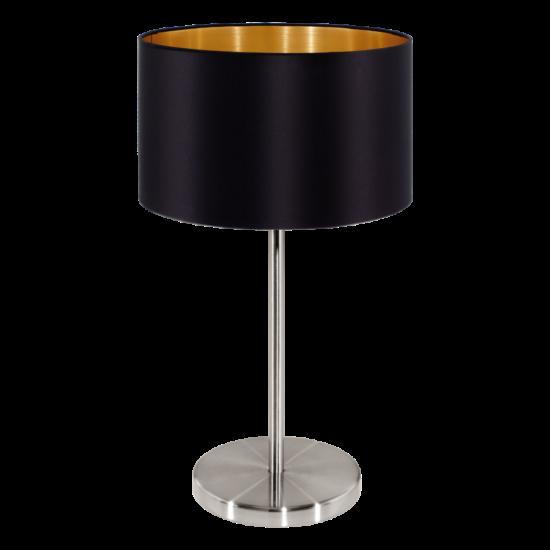 Textil asztali lámpa E27 60W fekete Maserlo EGLO - 31627